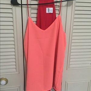 Express reversible coral and red cami